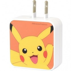 Adapter Pikachu USB2 Port AC japan plush