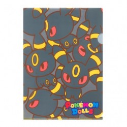 A4 Clear File Pokemon Doll Umbreon japan plush