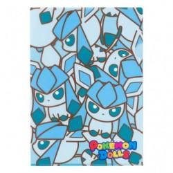 A4 Clear File Pokemon Doll Glaceon japan plush