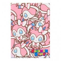 A4 Clear File Pokemon Doll Sylveon japan plush