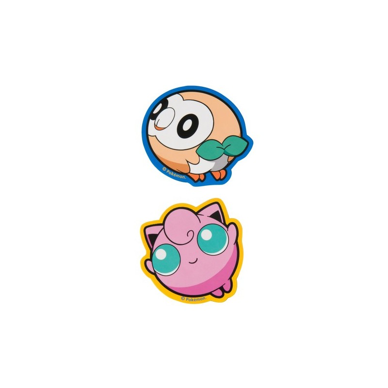 Sticker 2x Set Pokémon Pop Rowlet Meccha Japan