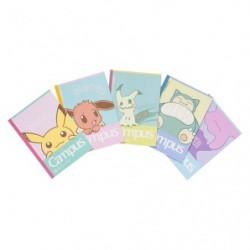 Book Note A5 Set Pokemon Center Original japan plush