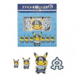 Sticker Member Pikachu Aqua Team japan plush