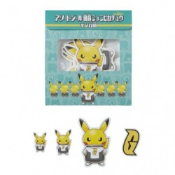 Sticker Member Pikachu Galactic Team japan plush