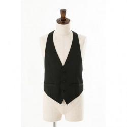 Cosplay Black Plain Vest japan plush