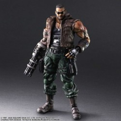 Figurine Barret Wallace Final Fantasy 7 Remake PLAY ARTS Ver.2 japan plush