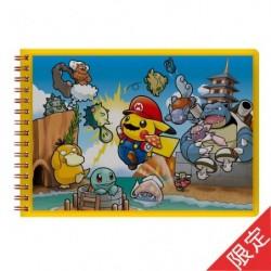 Limited Edition Note Mario Pikachu japan plush