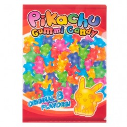 A4 Clear File Pikachu Gummi Candy japan plush