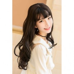 Cosplay Wig TefuRe Long Curl Natural Black Hair japan plush