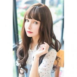 Cosplay Wig TefuRe Long Curl Dark Brown Hair japan plush