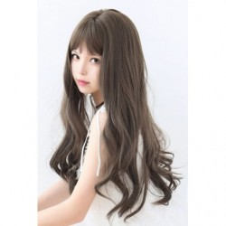 Cosplay Wig TefuRe MODE Long Wavy Hair Latte japan plush