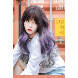 Cosplay Wig TefuRe Dolce Wavy Long Hair Purple Gray Gradation japan plush