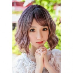 Cosplay Perruque TefuRe DOLLY Cheveux Coupe Carré Ondulé Noir Rose Cendré Gradation japan plush