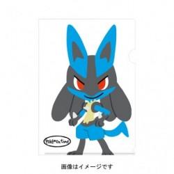A4 Clear File pokemon time Lucario japan plush