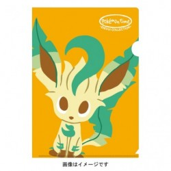 A4 Clear File pokemon time EIEVUI COLLECTION Leafeon japan plush