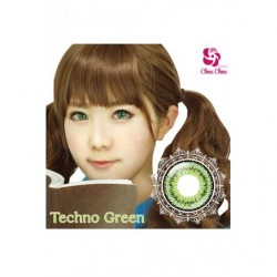 Cosplay Color Lens TWIN LOOP Green Techno japan plush
