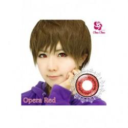 Cosplay Color Lens TWIN LOOP Red Opera japan plush