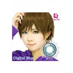 Cosplay Color Lens TWIN LOOP Blue Digital japan plush