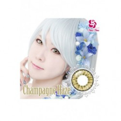 Cosplay Color Lens ICE FLORA Gold Champagne japan plush