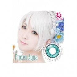 Cosplay Color Lens ICE FLORA Blue Aqua japan plush
