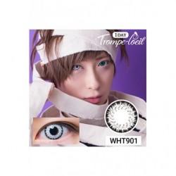 Cosplay Color Lens TROMPE LOEIL White japan plush