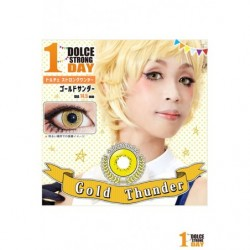 Cosplay Color Lens DOLCE STRONG Gold Thunder japan plush