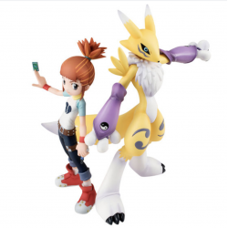 Figure Renamon & Ruki Makino Digimon G.E.M Series japan plush