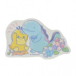 Sticker Psyduck Quagsire Rain  japan plush