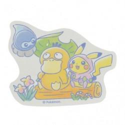 Sticker Psyduck Pikachu Rain