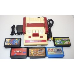 Nintendo Famicom AV Mod C Grade - 5 Items Set + 5 Games Set B