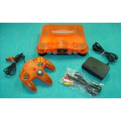 Nintendo 64 Clear Orange - 4 Items Set
