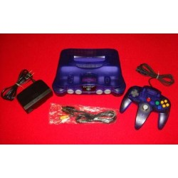 Nintendo 64 Midnight Blue - 4 Items Set