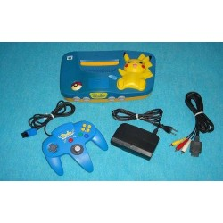 Nintendo 64 Pikachu Blue - 4 Items Set