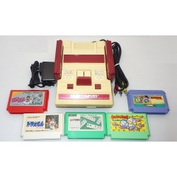 Nintendo Famicom AV Mod C Grade - 5 Items Set + 5 Games Set C