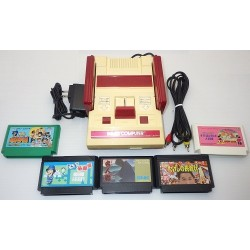 Nintendo Famicom AV Mod C Grade - 5 Items Set + 5 Games Set D