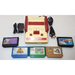 Nintendo Famicom AV Mod C Grade - 5 Items Set + 5 Games Set E