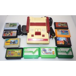 Nintendo Famicom AV Mod C Grade - 5 Items Set + 10 Games Set A