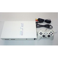 Sony Playstation 2 White - 4 Items Set (SCPH-55000GT)