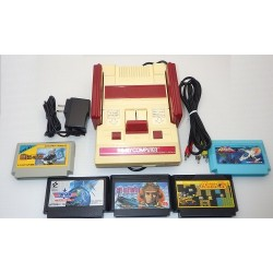 Nintendo Famicom AV Mod C Grade - 5 Items Set + 5 Games Set F