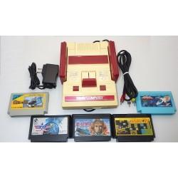 Nintendo Famicom AV Mod Grade C - Set 5 Articles + Set de 5 Jeux F