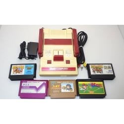 Nintendo Famicom AV Mod C Grade - 5 Items Set + 5 Games Set G