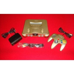 Nintendo 64 Gold - 4 Items Set japan plush