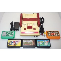 Nintendo Famicom AV Mod C Grade - 5 Items Set + 5 Games Set H