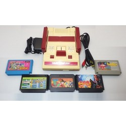 Nintendo Famicom AV Mod C Grade - 5 Items Set + 5 Games Set I