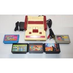 Nintendo Famicom AV Mod Grade C - Set 5 Articles + Set de 5 Jeux I