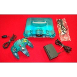 Nintendo 64 Clear Blue - 4 Items Set