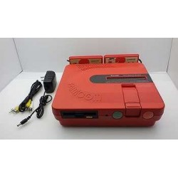 Sharp Twin Famicom Red - 5 Items Set