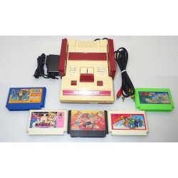 Nintendo Famicom AV Mod C Grade - 5 Items Set + 5 Games Set A