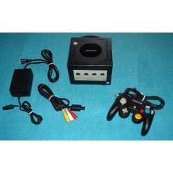 Nintendo Gamecube Black - 4 Items Set