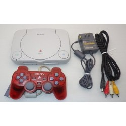 Sony PSone - 4 Items Set (Red Controller)